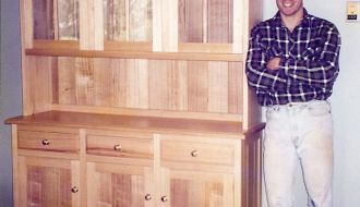 custom hardwood hutch – 7