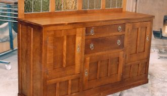 Silky oak sideboard 34