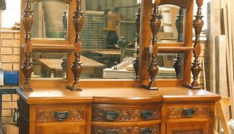superb carved edwardian Sideboard 7