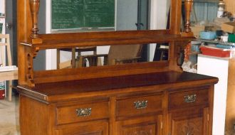 Edwardian Carved Sideboard 24