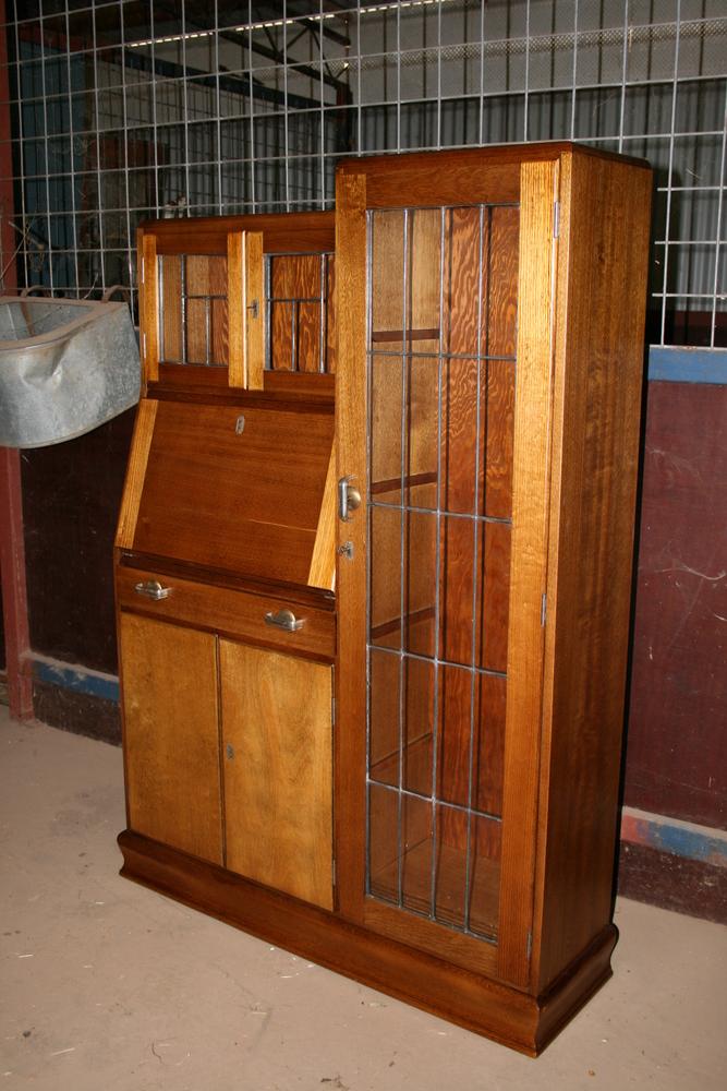 Hardwood Combination Desk/bookcase 10   Clarelle Furniture Restoration