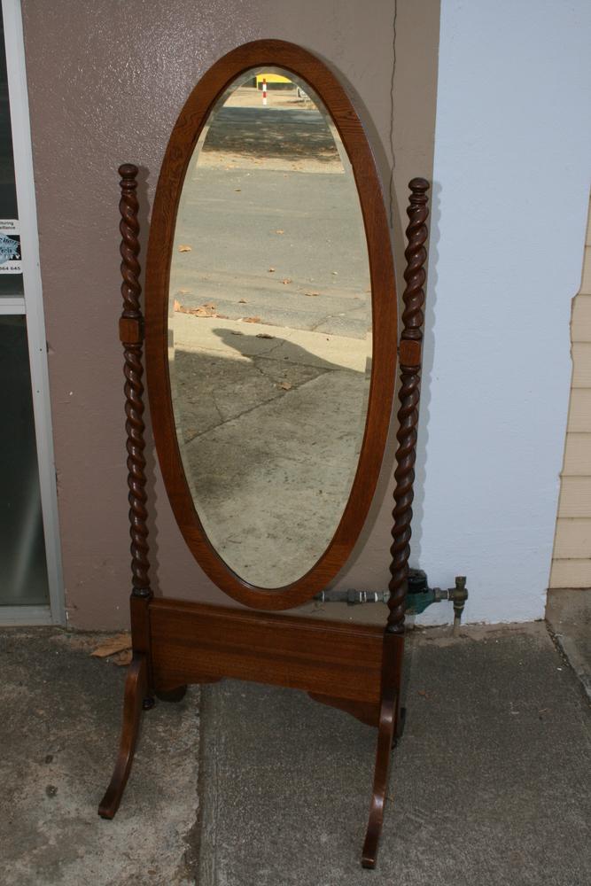 Twist oak Chevelle Mirror 2   Clarelle Furniture Restoration
